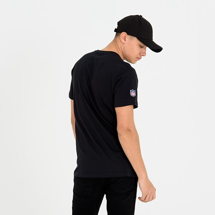 Oakland Raiders Wordmark Arch Black Tee