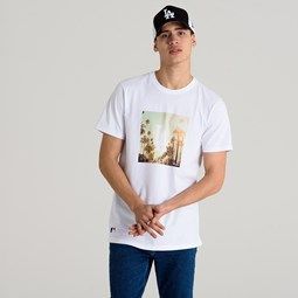 Camiseta Los Angeles Dodgers City  Print, blanco