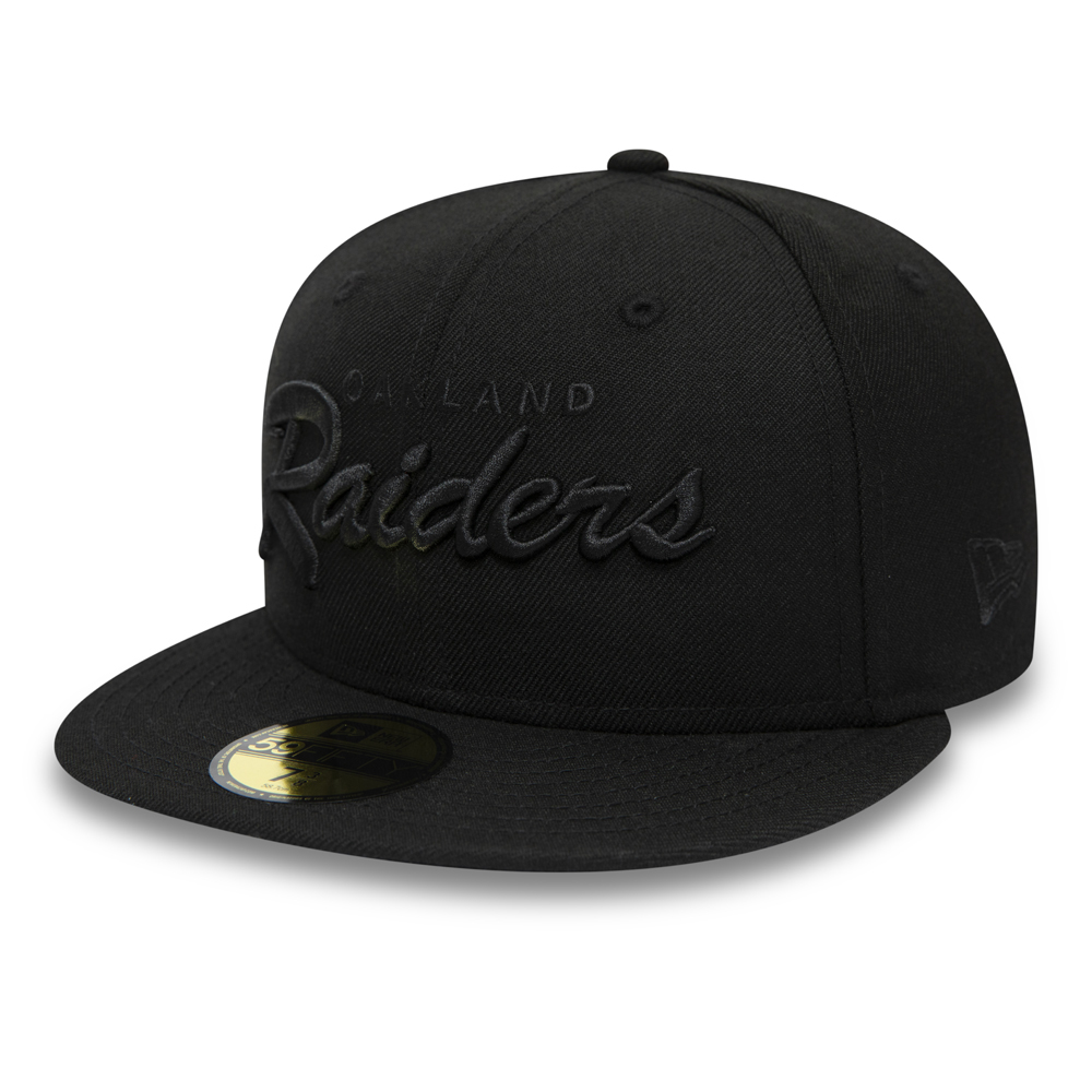 e9a123b54be Oakland Raiders Script 59FIFTY