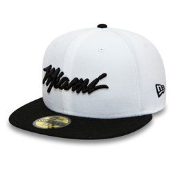 Gorra Miami Heat 59FIFTY, blanco