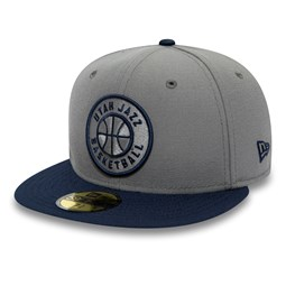 Graue 59FIFTY-Kappe der Utah Jazz