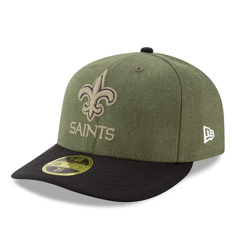 wholesale dealer 0e5d4 328df New Orleans Saints Salute to Service Low Profile 59FIFTY