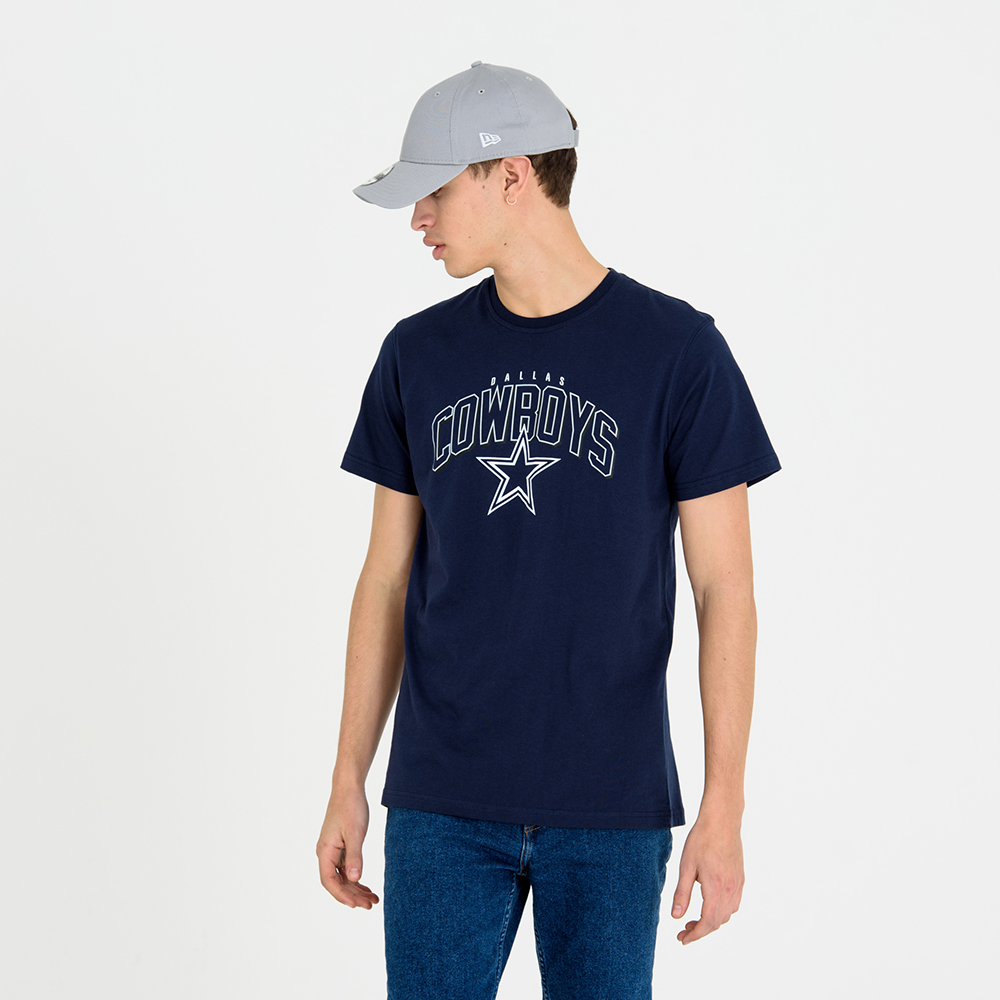 Dallas Cowboys Wordmark Arch Navy Tee