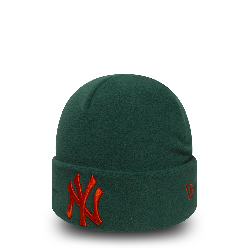 Gorro de punto con vuelta New York Yankees Winter Utility Green Fleece
