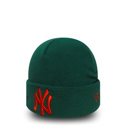 Berretto in pile verde con risvolto New York Yankees Winter Utility da6162a6cd92
