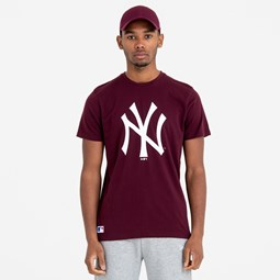New York Yankees Team Logo Maroon Tee