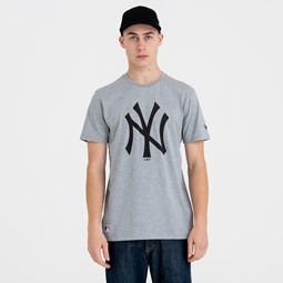New York Yankees Team Logo Grey Tee