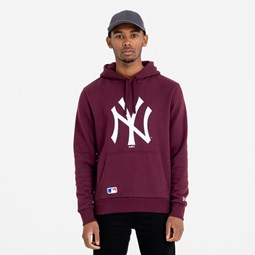 New York Yankees Team Logo Maroon Hoodie