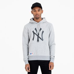 New York Yankees Team Logo Grey Hoodie