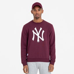 New York Yankees Team Logo Maroon Crew Neck