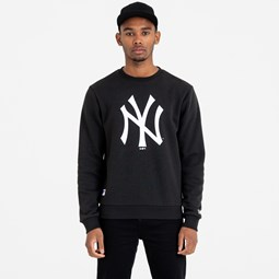 New York Yankees Team Logo Black Crew Neck