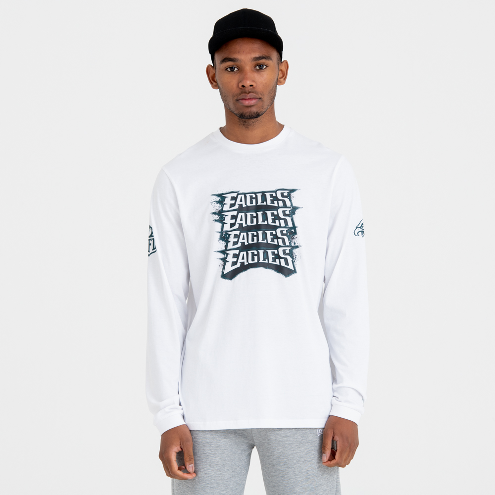 Philadelphia Eagles Repeat Wordmark Long Sleeve Tee