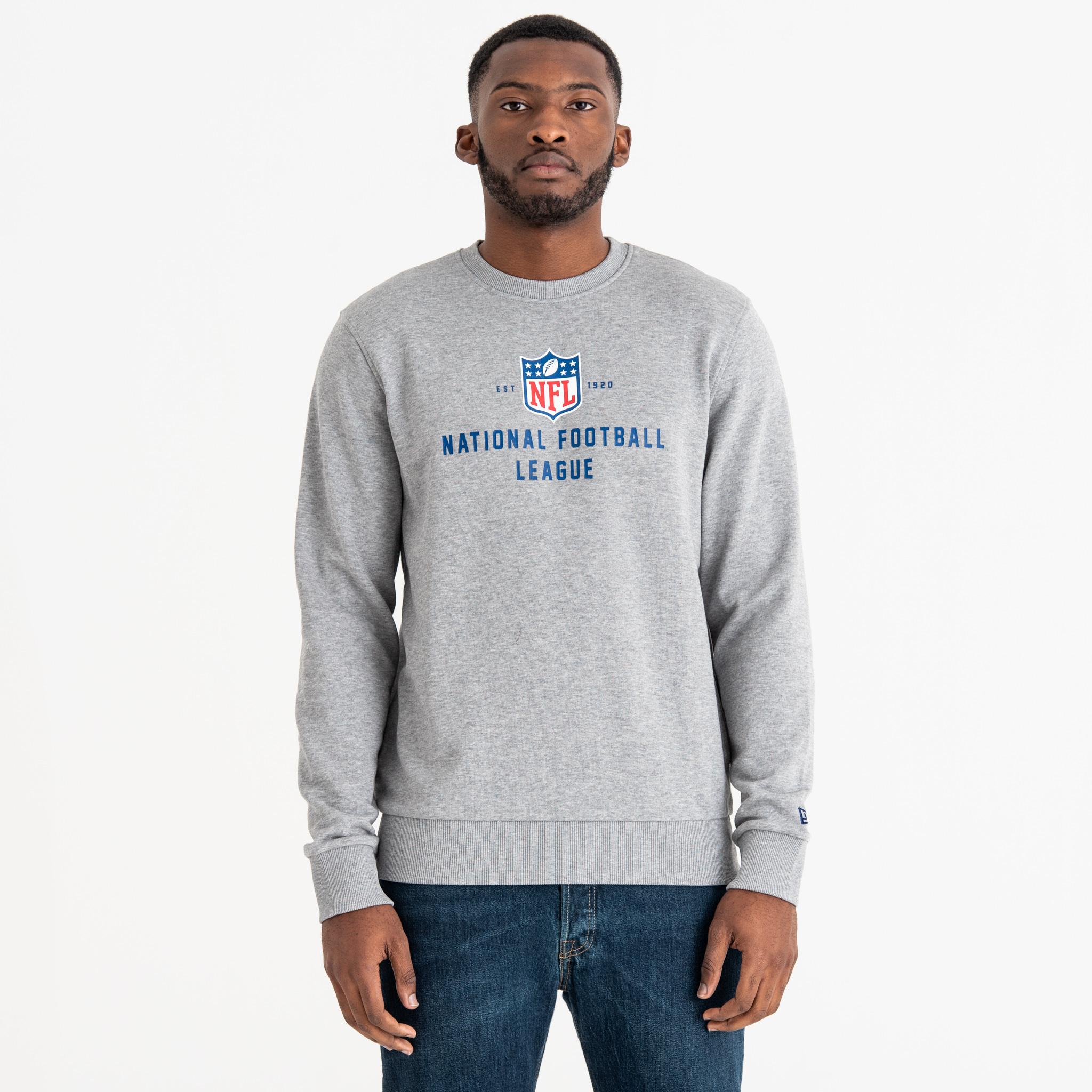 Sweatshirt mit Rundhalsausschnitt, Gründungsdatum und NFL-Logo