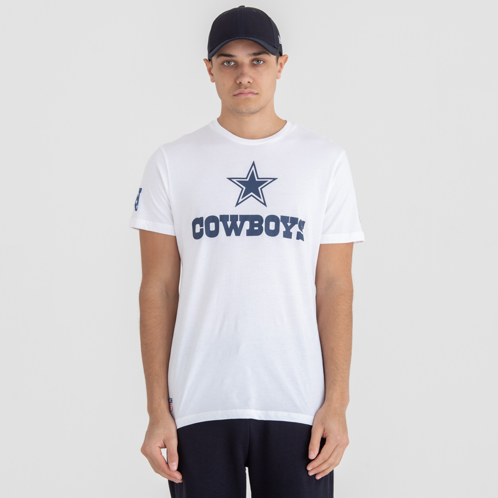 Dallas Cowboys Fan Logo White Tee
