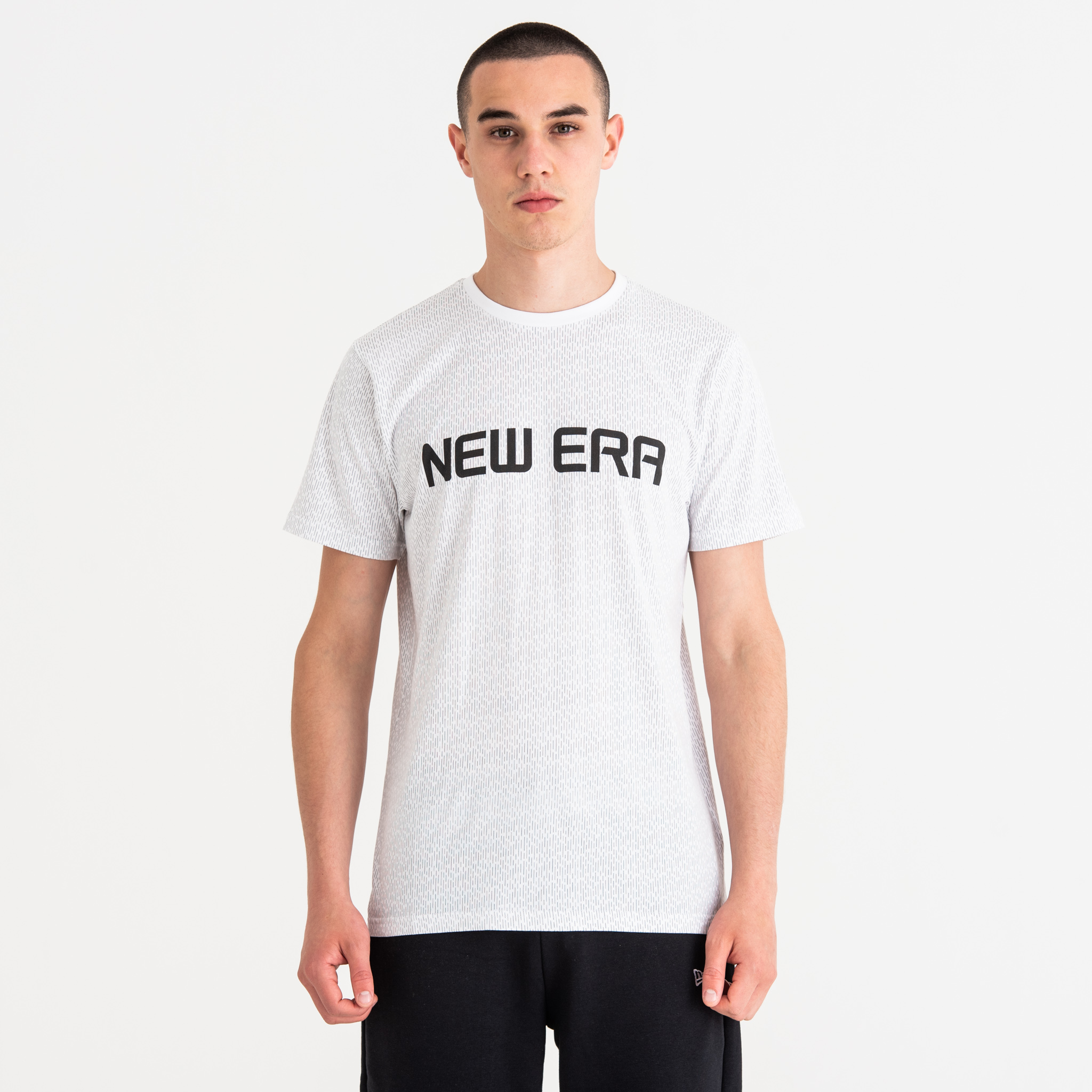 New Era Rain Camo White Tee