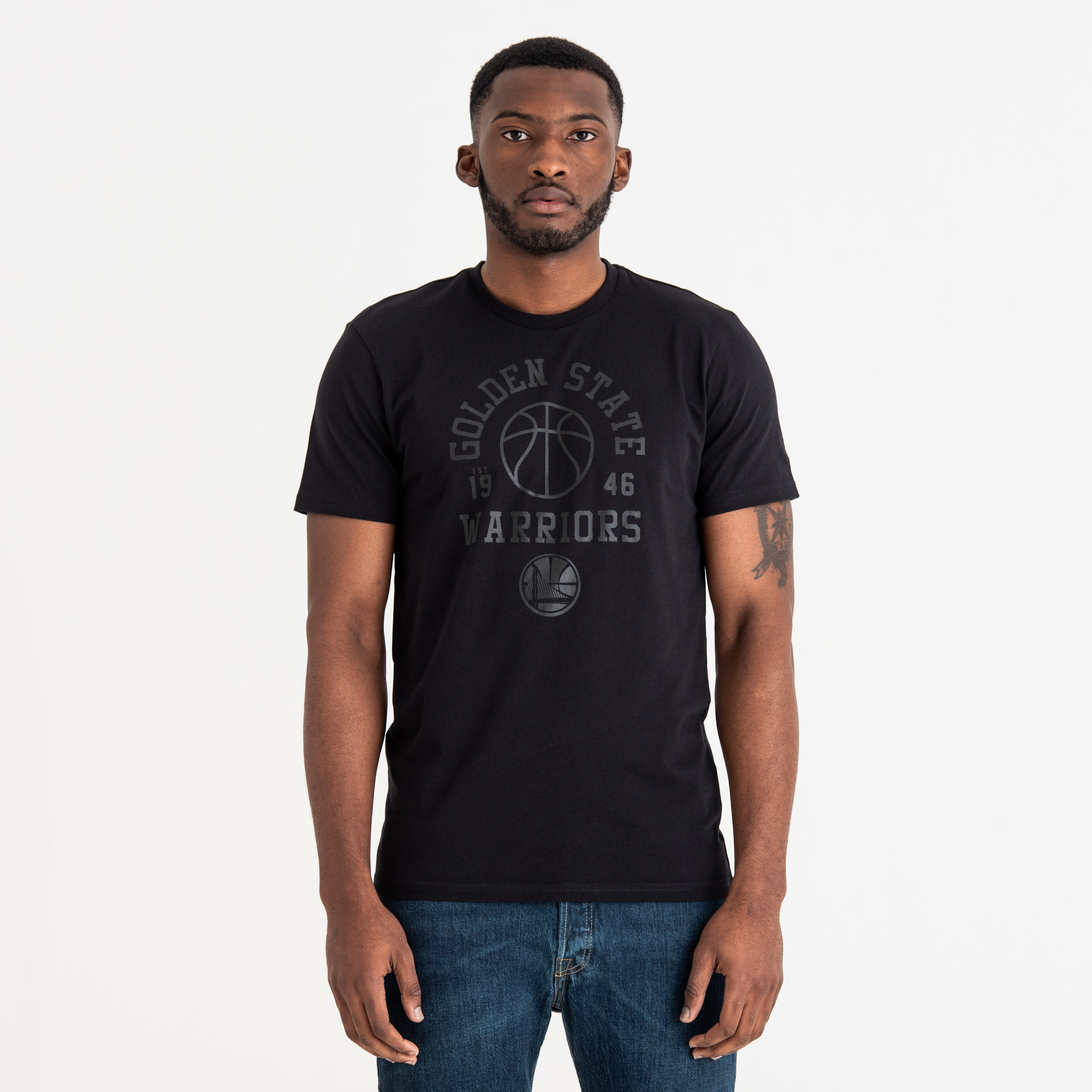 Golden State Warriors Tonal Black Tee