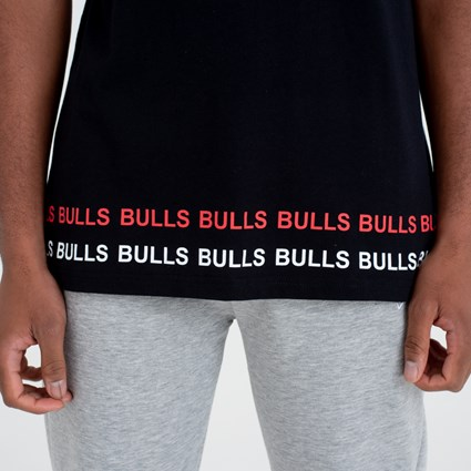 Chicago Bulls Team Wordmark Black Tee