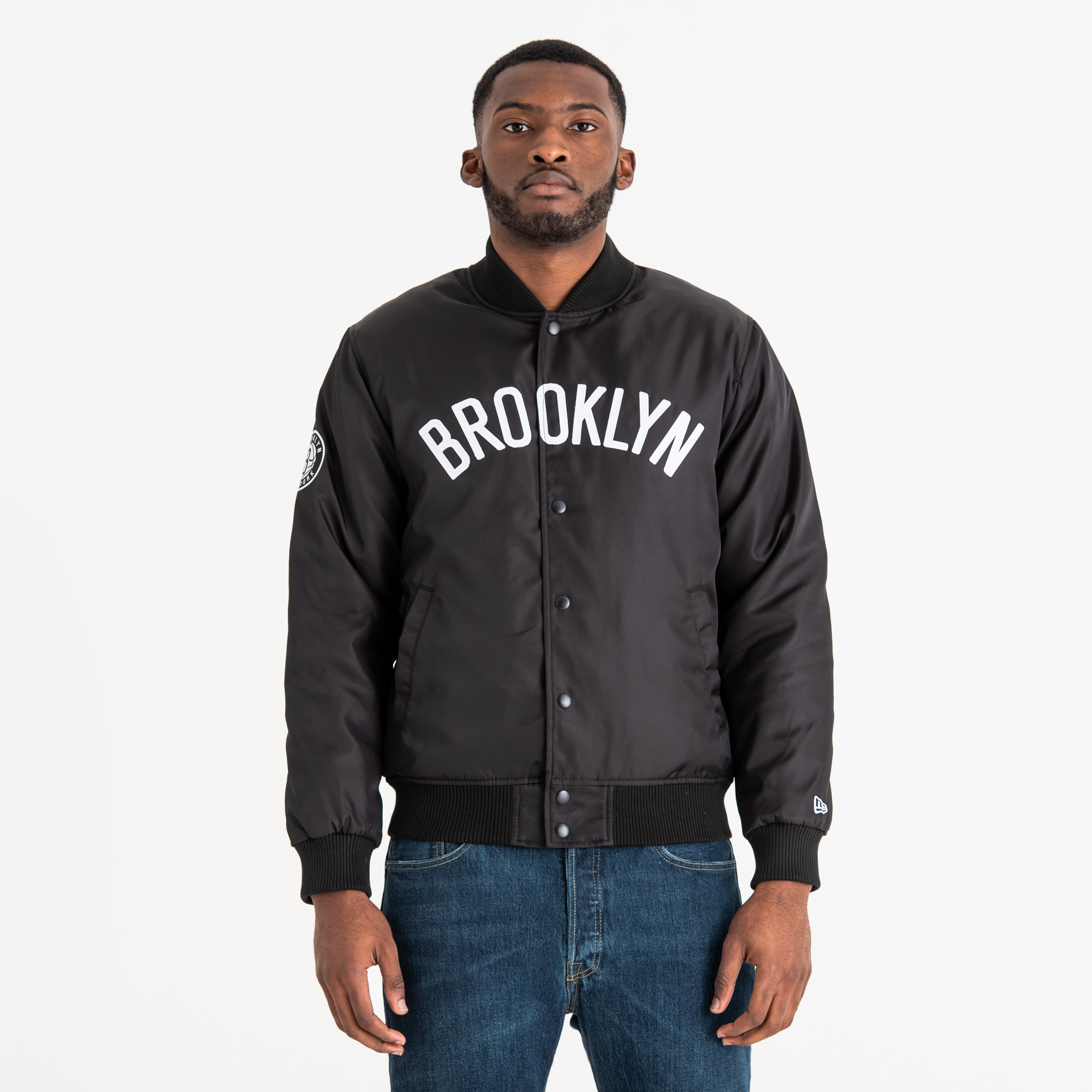 Brooklyn Nets Wordmark Varsity Jacket