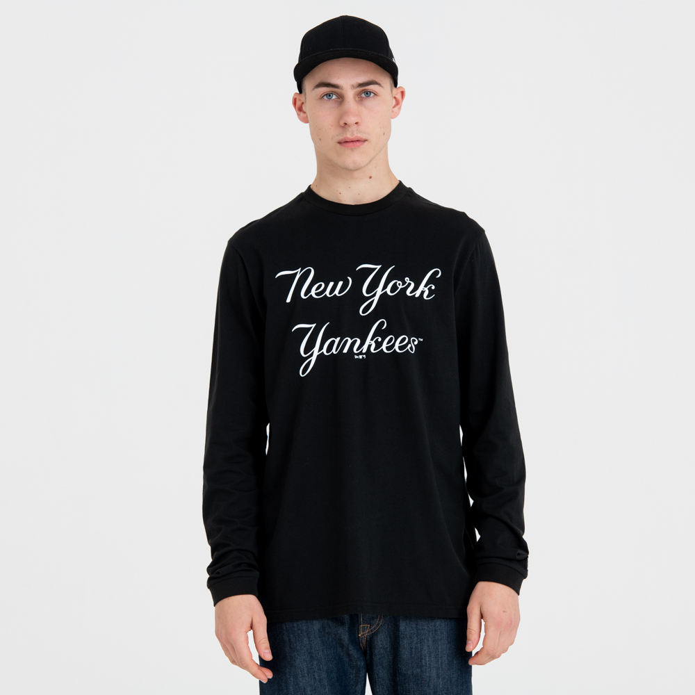 New York Yankees Script Long Sleeve Tee