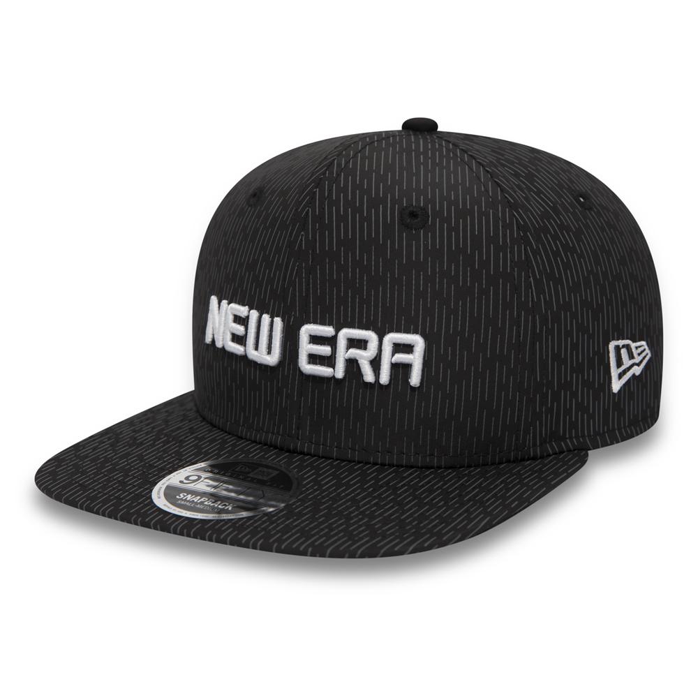New Era Rain Camo Original Fit 9FIFTY Snapback, negro