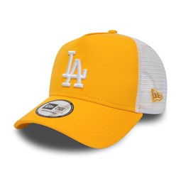 Los Angeles Dodgers Womens Essential Yellow A Frame Trucker