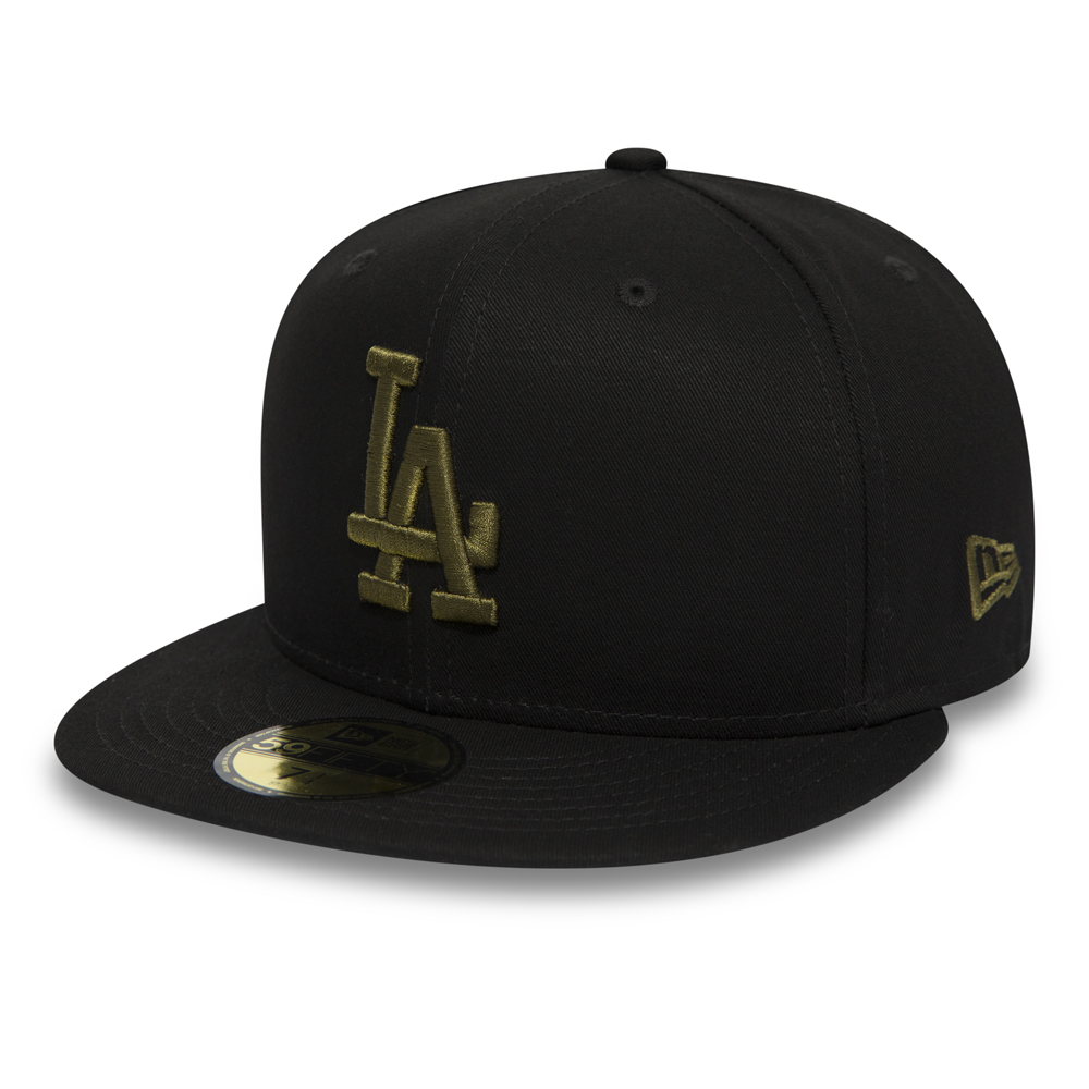 ec6a5849d9a45 Los Angeles Dodgers Essential Black 59FIFTY