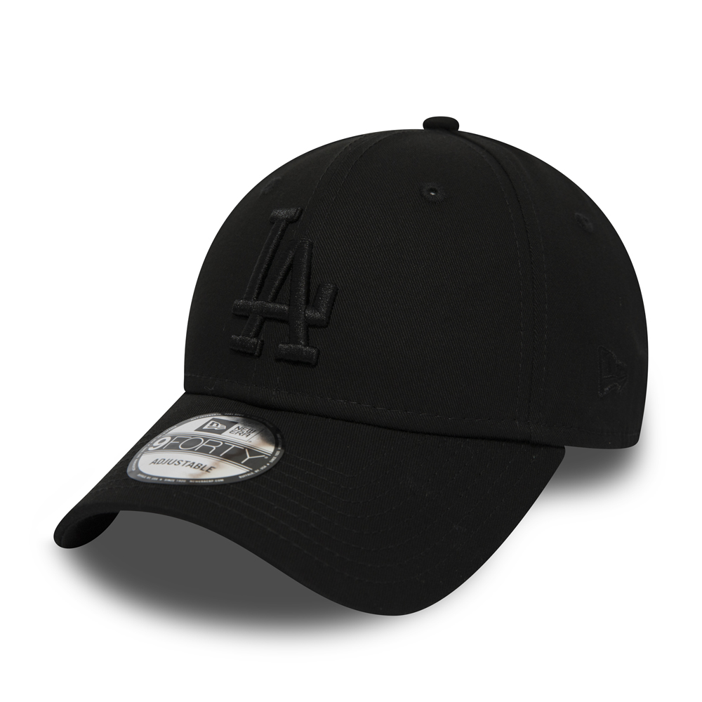 6254f1e593ad8 Los Angeles Dodgers Black on Black 9FORTY Snapback