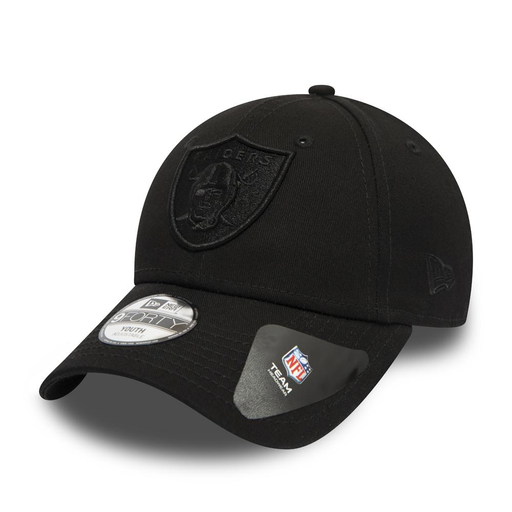 c3ca26dd210 Oakland Raiders Kids Black on Black 9FORTY Snapback