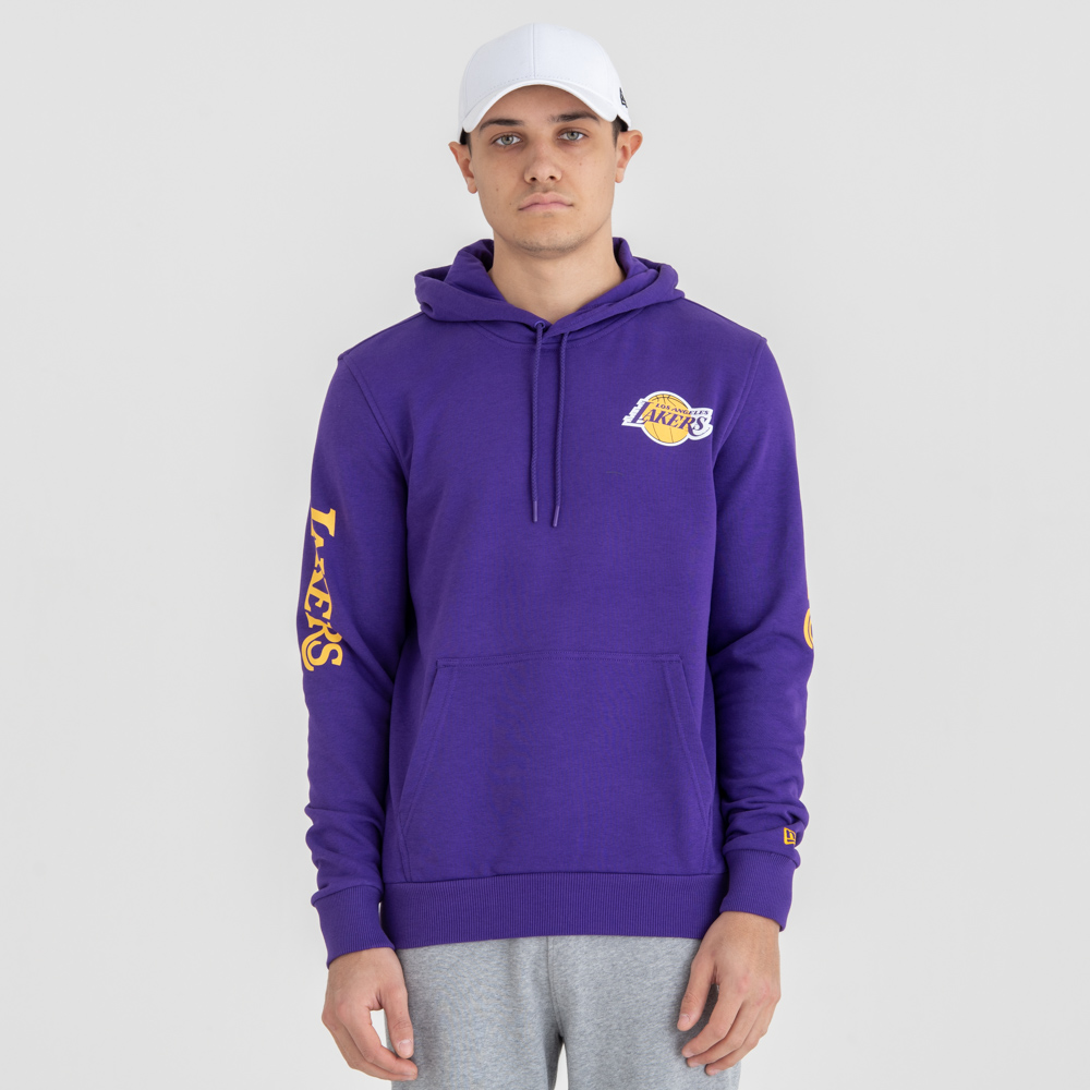 Los Angeles Lakers Wordmark Pullover Hoodie