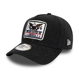 New Era Black Denim A Frame Trucker