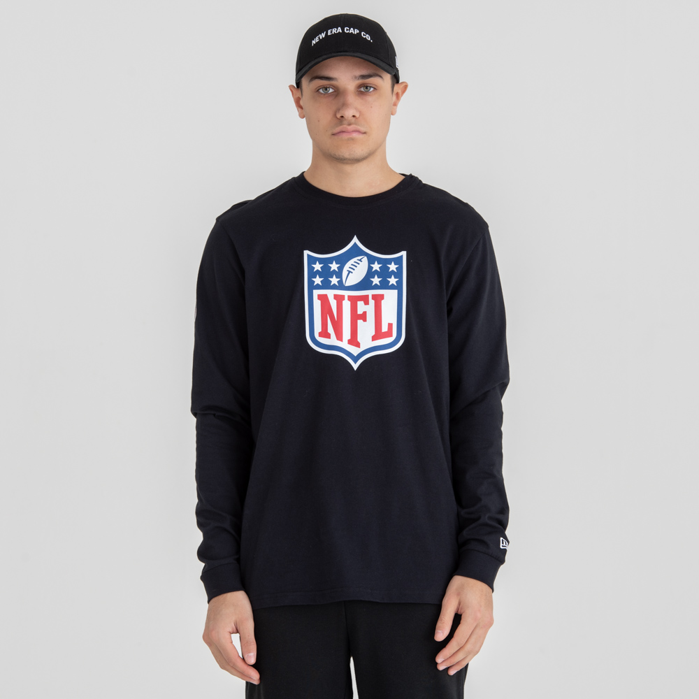 Camiseta NFL Logo Long Sleeved, negro