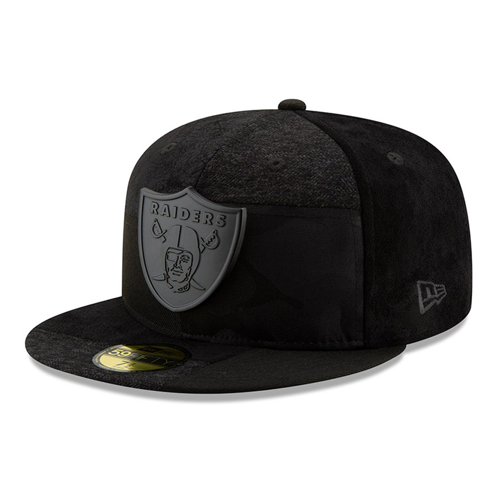 25d54c6b945 Oakland Raiders Premium Patched 59FIFTY
