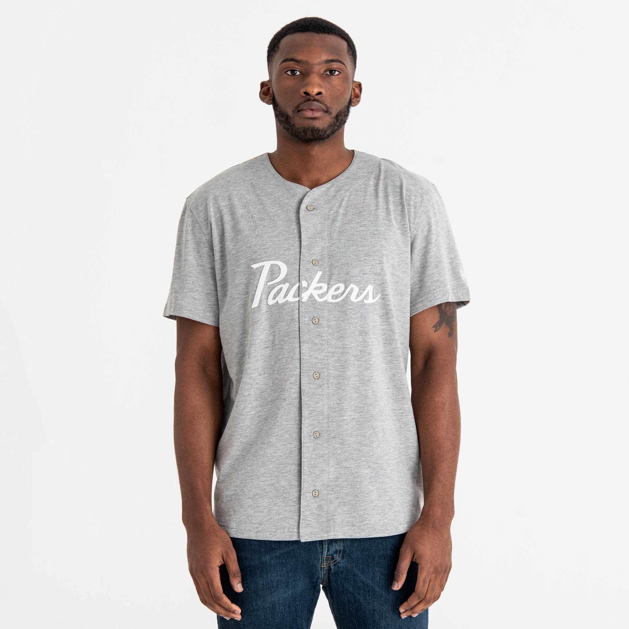 T-shirt Green Bay Packers Script Button Up