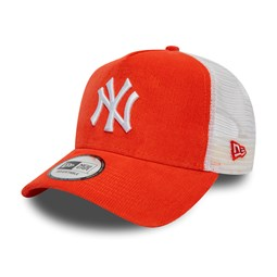New York Yankees Coral Cord A Frame Trucker