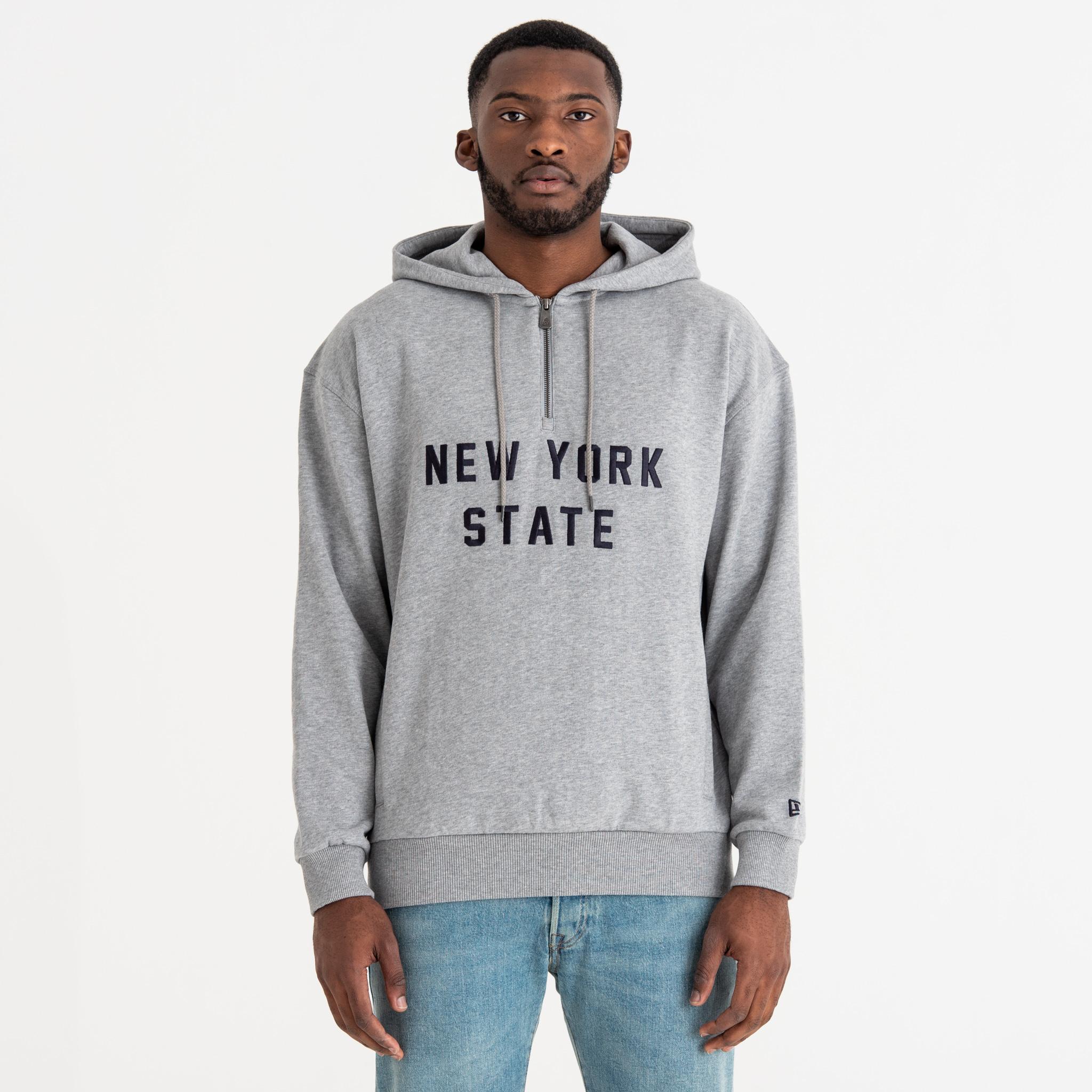 4ad62b97042 New Era New York State Half Zip Hoodie