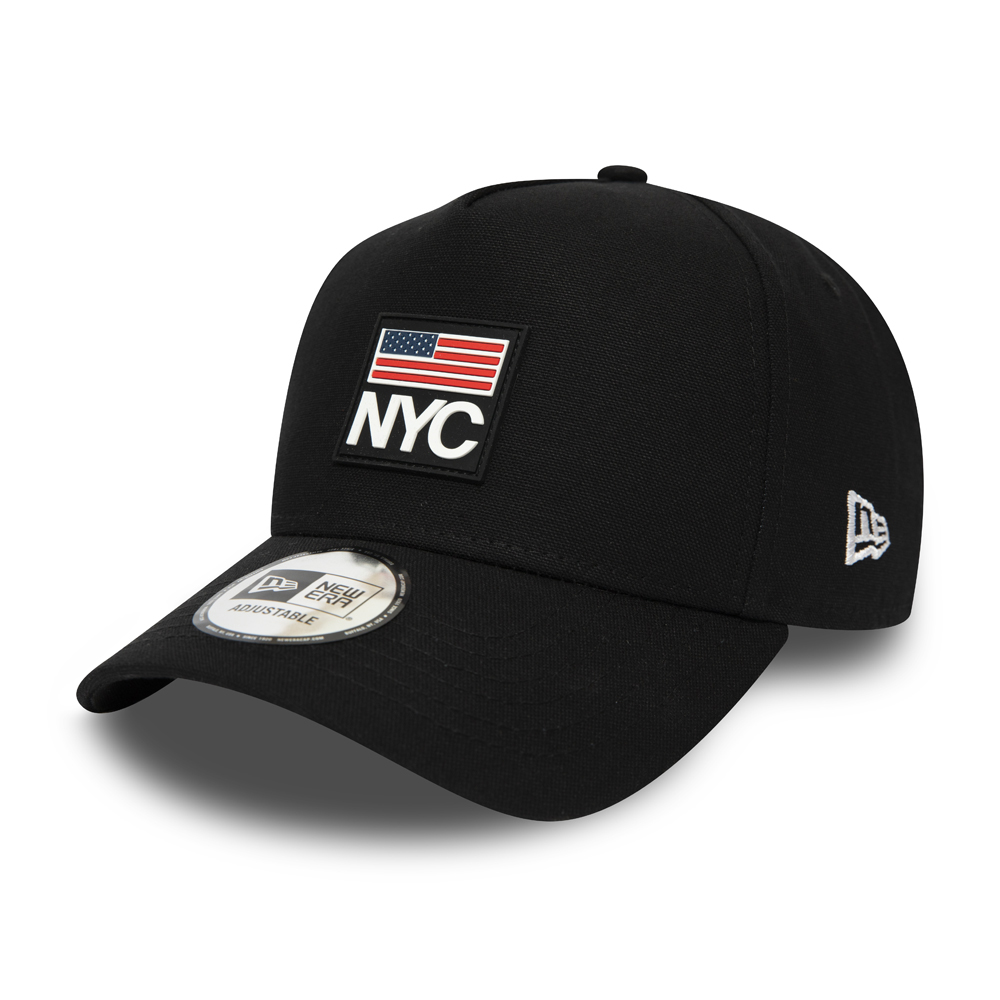 New Era NYC Rubber Black A Frame Trucker