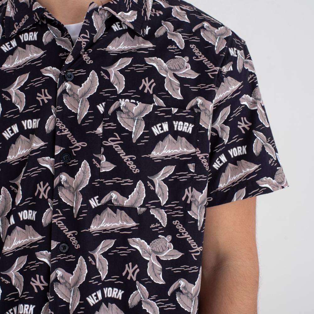 Camisa New York Yankees allover Print, azul marino