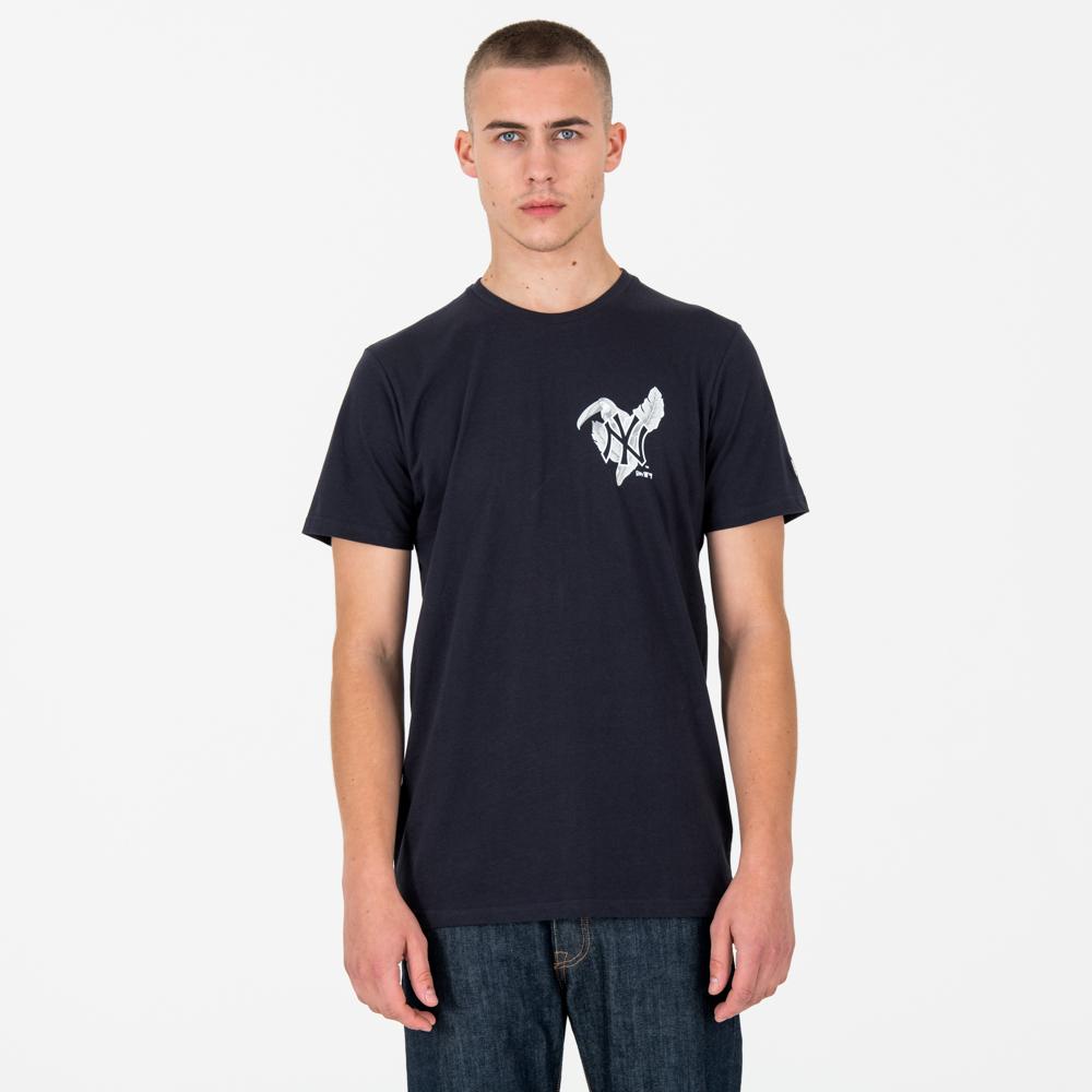 New York Yankees Print Logo Tee bleu marine