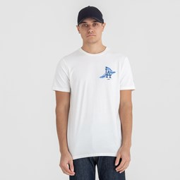 T-shirt Los Angeles Dodgers blanc avec logo