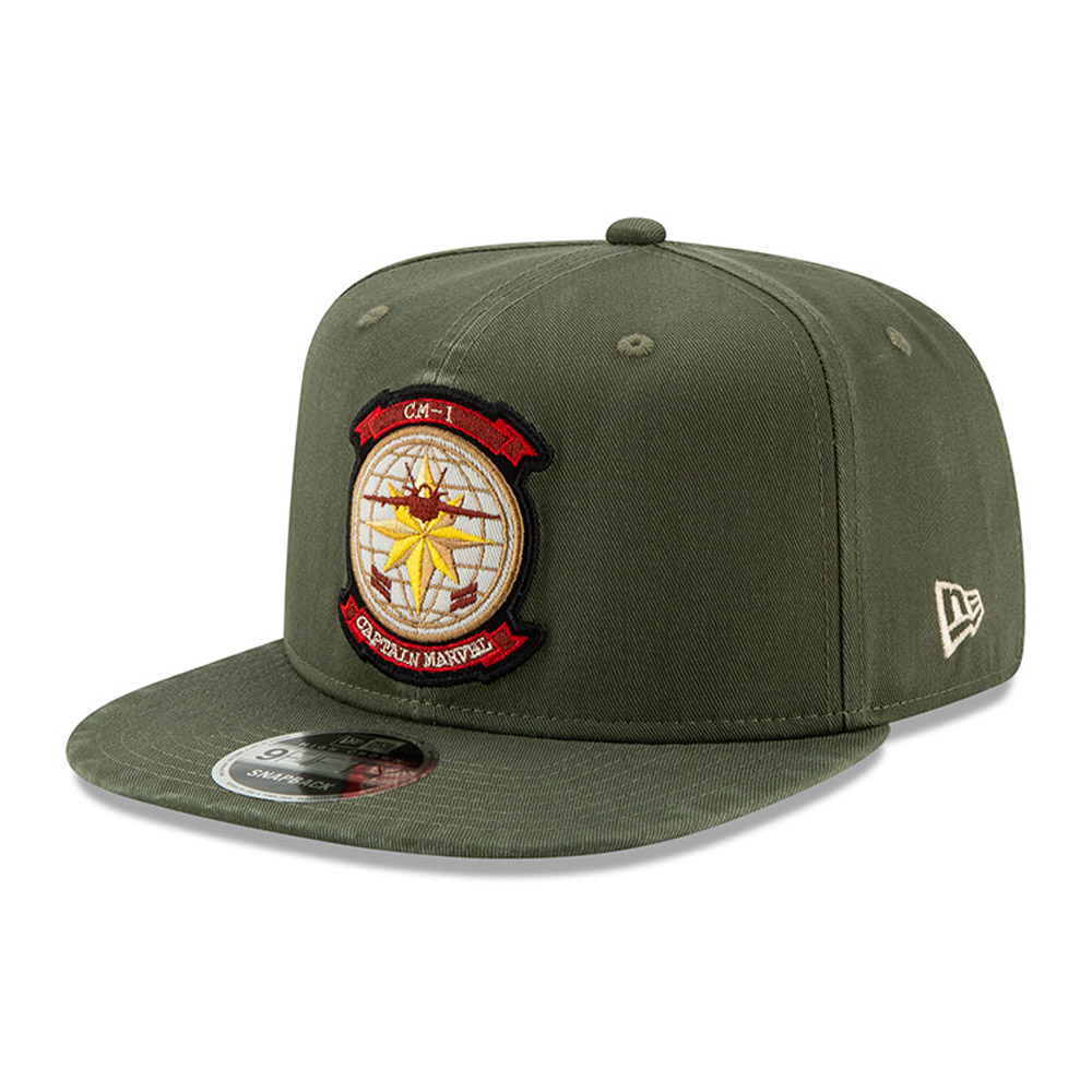 Captain Marvel 9FIFTY Snapback con corona alta 6738b308df40