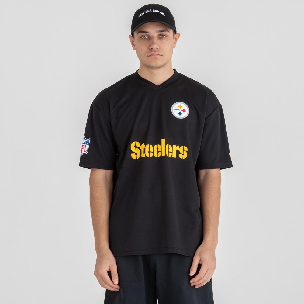 Camiseta Pittsburgh Steelers NFL Oversized Wordmark, negro