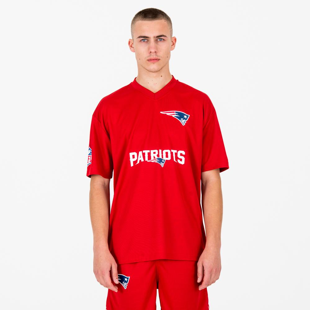 T-shirt New England Patriots NFL rouge écarlate avec inscription