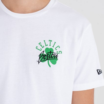 Boston Celtics Script Logo White Tee