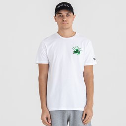 Boston Celtics Script Logo – T-Shirt – Weiß