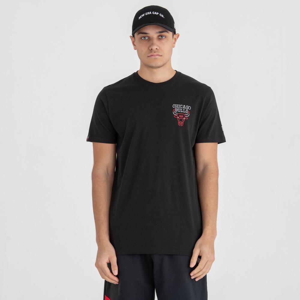 Camiseta Chicago Bulls Neon Lights, negro