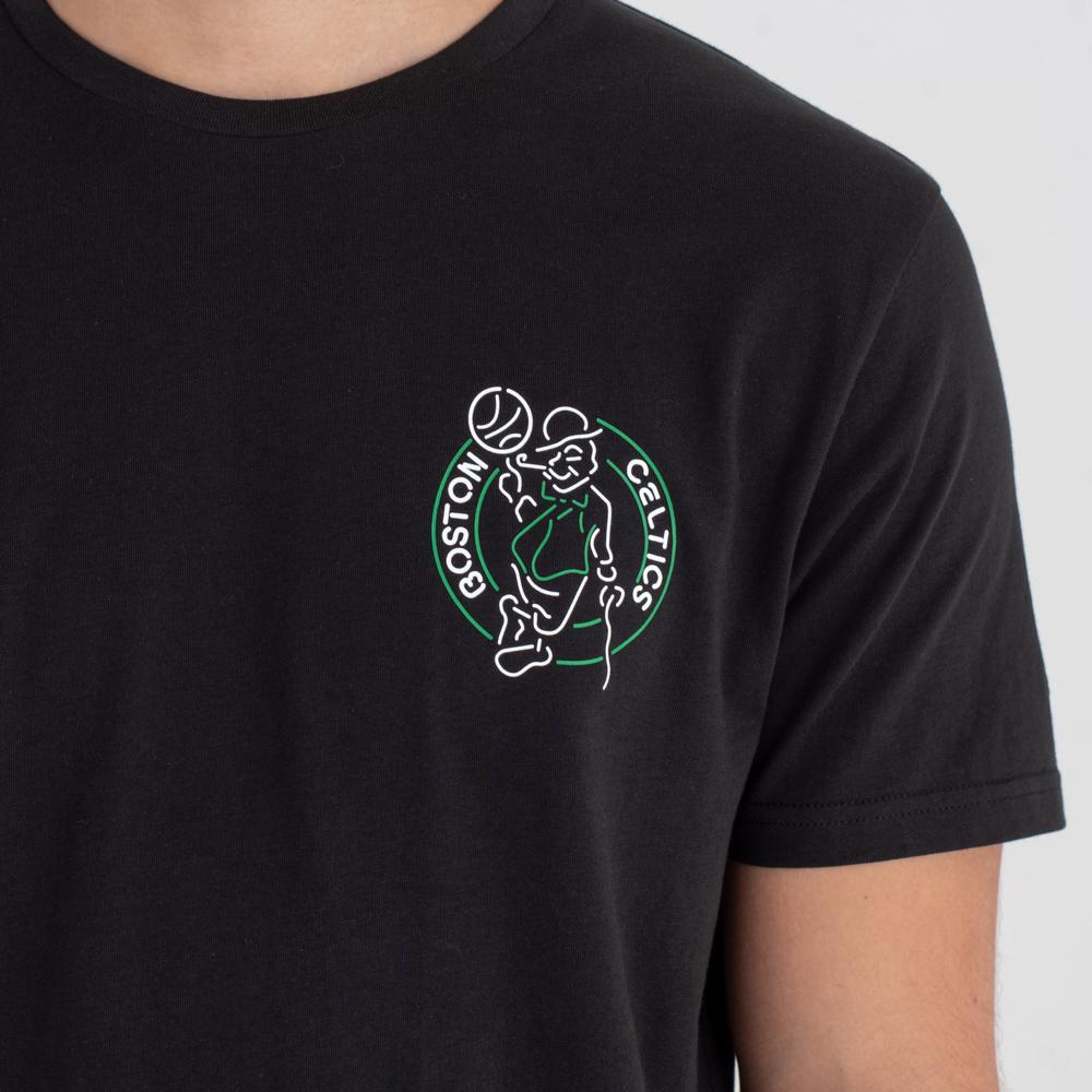 Boston Celtics Neon Lights – T-Shirt – Schwarz