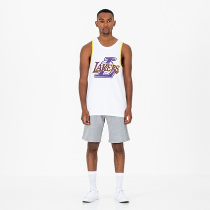 Los Angeles Lakers Double Logo White Tank