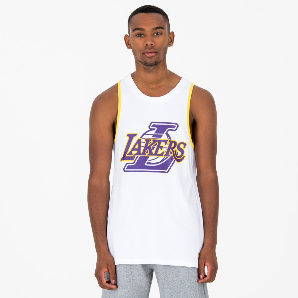 Camiseta de tirantes Los Angeles Lakers Double Logo, blanco