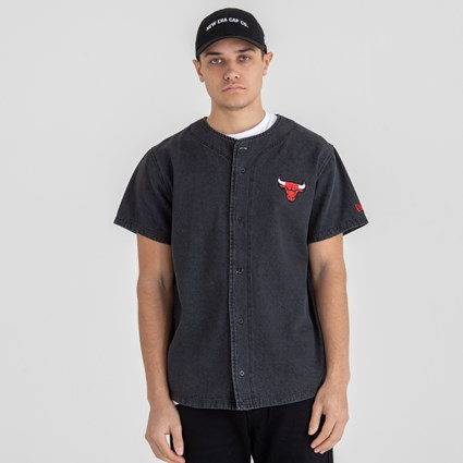 Chicago Bulls Black Denim Jersey Tee