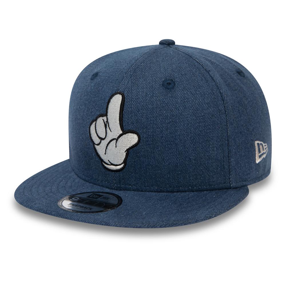 Street Mickey Mouse Denim 9FIFTY Snapback, azul